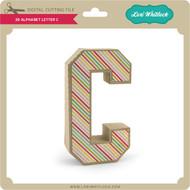 3-D Alphabet Letter C