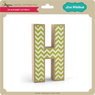 3-D Alphabet Letter H