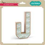 3-D Alphabet Letter J