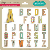 3-D Alphabet Bundle