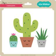 3 Succulents