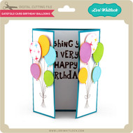 Gatefold Card Birthday Balloons