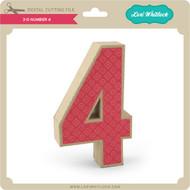 3-D Number 4