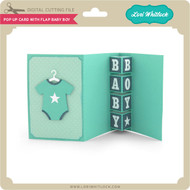Pop Up Card with Flap Baby Boy