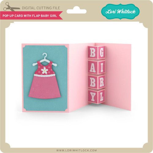 pop up card with flap baby girl 199 image 1