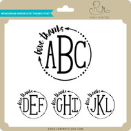 Monogram Arrow Give Thanks Font