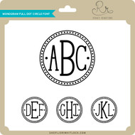 Monogram Full Dot Circle Font