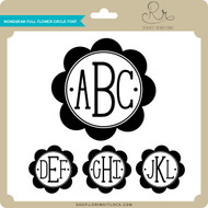 Monogram Full Flower Circle Font