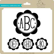 Monogram Full Flower Circle Font