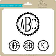 Monogram Scalloped Full Circle Font