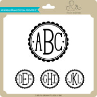 Monogram Scalloped Full Circle Font