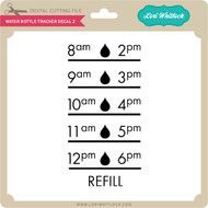 Water Bottle Tracker Decal 2