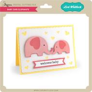 Baby Card Elephants