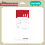 #10 Christmas Card Layered Houses