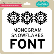 Monogram Snowflakes Font