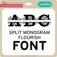 Split Monogram Flourish Font