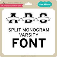 Split Monogram Varsity Font