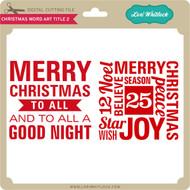 Christmas Word Art Titles 2