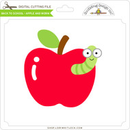 Back to School - Apple and Worm