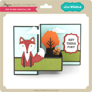 Pop Up Box Card Fall Fox 2