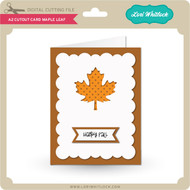 A2 Cutout Card Maple Leaf