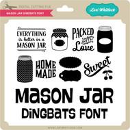 Mason Jar Dingbats Font