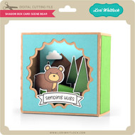 Shadow Box Card Scene Bear