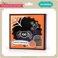 Shadow Box Card Scene Spider