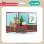 Pop Up Box Card Christmas Rudolph