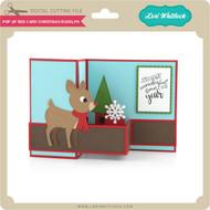 Pop Up Box Card Christmas Rudolph