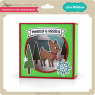 Shadow Box Card Scene Reindeer