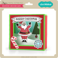 Shadow Box Card Scene Santa