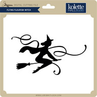 Flying Flourish Witch