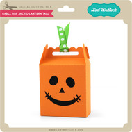 Gable Box Jack O Lantern Tall