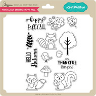 Print & Cut Stamps Happy Fall