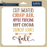Cozy Sweaters Fall List
