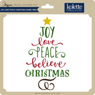 Joy Love Peace Christmas Word Tree