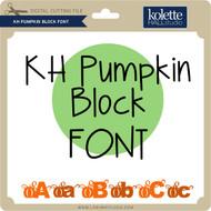 Pumpkin Block Font