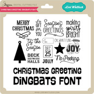 Christmas Greeting Dingbats Font