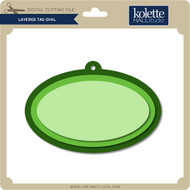 Layered Tag Oval