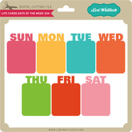 Life Card Days of the Week 3x4