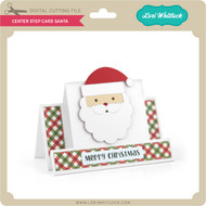 Center Step Card Santa