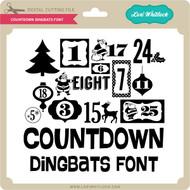 Countdown Dingbats Font