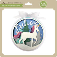 Believe Unicorn Ornament