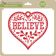 Scandi Heart Believe