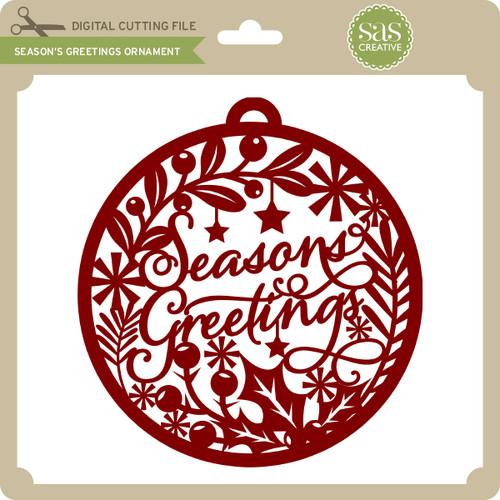 Seasons greetings ornament lori whitlocks svg shop seasons greetings ornament m4hsunfo