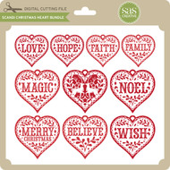 Scandi Christmas Heart Bundle