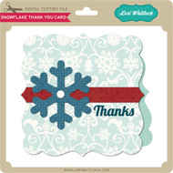 Snowflake Thank You Card