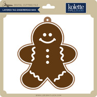 Layered Tag Gingerbread Man
