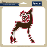 Layered Tag Reindeer
